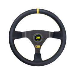 OMP WRC Leather yellow stitching Steering Wheel