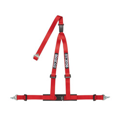 "Sparco 3 - point 2"" Safety Belts, cleaved at the back, red"