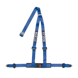"Sparco 3 - point 2"" Safety Belts with standard bolts, blue"