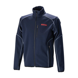 Sparco Mens Logo Softshell Jacket - Navy