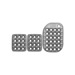 OMP OA/1863 standard silver Pedal Pads